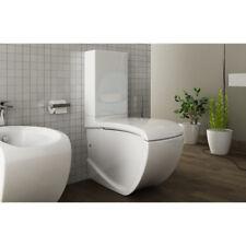Vaso Wc Bagno Monoblocco Moderno Design Hi Line in ceramica bianco