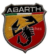 Fiat 500 Abarth F1 Racing Embroidered Iron-Sew on Patch Badge UK SELLER