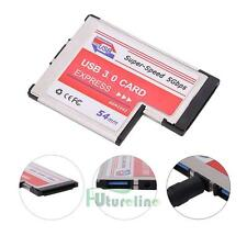 USB 3.0 Expansion PCMCIA Express Card 2-Port Laptop NEC Chip Adapter to Windows