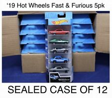 Hot Wheels Fast & Furious 5 Pack Case Of 12 New 2019 Movie Retro Basic Cars Set