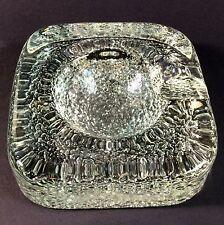 Vintage Art Glass Ashtray Scandinavian Pebbled Base Possibly Iittala
