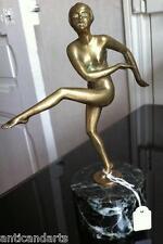 Bronze sur socle marbre Femme Danseuse Art déco