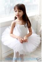 New Girls Fairy Party Ballet Costume Tutu Dance Leotard Skating Skirt Dress 3-8Y