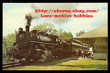 LMH Postcard Photo 1969 COOPERSTOWN CHARLOTTE VALLEY Railway 0-6-0 C&CV #2 Depot