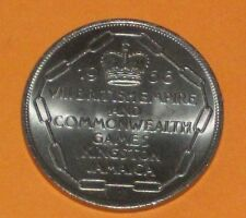 1966 COMMONWEALTH GAME KINGSTON JAMAICA LARGE 5 SHILLING COIN LOW MINT LUCERNAE