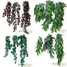 Reptile Vivarium Realistic Jungle Silk Plant Vine Decor Small Medium Large