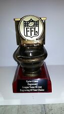 Last Place Fantasy Football Toilet Trophy - ENGRAVED FREE