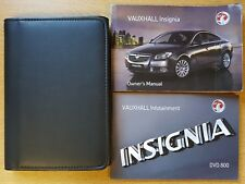 GENUINE VAUXHALL INSIGNIA OWNERS MANUAL HANDBOOK  2008–2013 PACK D-195
