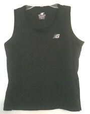 New Balance Sz S/P Black Women's WorkOut Athletic Sleeveless T-SHIRT NB Logo Top
