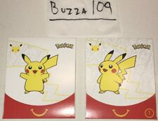 UNOPENED x2 McDonalds Happy Meal Pack Pokemon Card White Box Toy #1 Lot Pikachu
