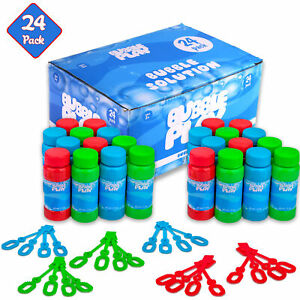 BubblePlay Bubble Blower Bottles with Wands: 24 - 2 OZ Bottles of Bubble