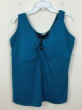 New listing Avenue Swim Womens Bathing Suit Swimwear Tankini Teal Blue Green Sz 24