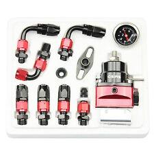 New Adjustable JDM Fuel Pressure Regulator Black+Red Kit AN 6 Fitting End