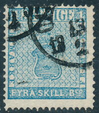 Sweden Scott 2 or Facit 2h1, 4 Skill B:co Pale Blue Arms Type, Fresh F Used
