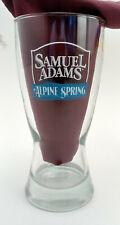 New listing Samuel Sam Adams Brewery Pilsner Glass Seasonal Brew Alpine Spring Boston Mass