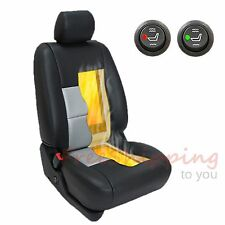 2 x Car Seat Heater Kit 4 Pads High/Low Round Switch Carbon Fiber Universal