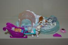 Vintage 1995 Littlest Pet Shop Twinkling Sledding Party