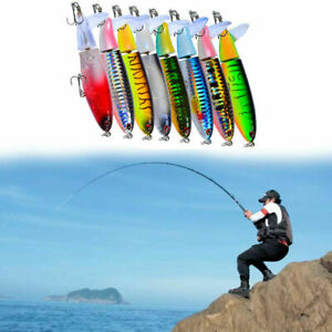 Whopper Plopper Topwater Float Fishing Lures Rotating Pike AL Tail For Bass W5J3