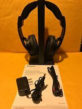 Sony Wireless FM Over-the-Ear Headphones - Black MDR-RF985RK  GREAT FOR TV !!
