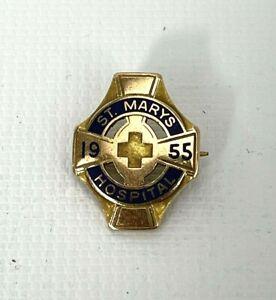 Vintage 10k Gold 1955 St. Marys Hospital Pin Brooch