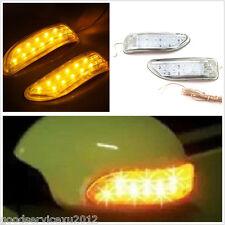 2 Pcs Soft Plastic Yellow 13LED Car Rear Mirror Turn Signal Light For Mitsubishi