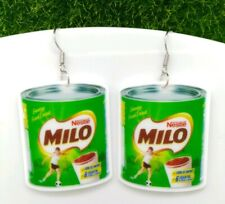 One Pair Acrylic Nestlé Milo Drop Earrings  Gift Idea 🎄🎄🎁🎁🎄🎄