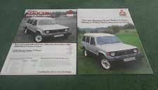 Oct 1984 / 1985 COLT / MITSUBISHI UK SHOGUN LWB BROCHURE + PRICE LIST Pajero
