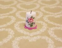 Pretty Floral Candle handmade 1:12th scale dollshouse miniature ornament vintage