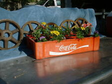 COCA COLA VINTAGE PLASTIC SODA CARRIER RED CRATE-- Great in Garden 1960`s 70`s?