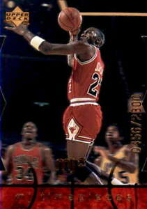 1998-99 Upper Deck MJx #29 MICHAEL JORDAN  Timepieces Red Die-Cut /2300 Bulls