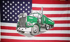 5' x 3' Truck USA Flag US America American Trucker Banner