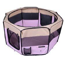 PawHut Fabric Pet Dog Cat Puppy Playpen Rabbit Guinea Pig Play Pen in Pink Small