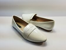 Zara Basic Collection Women's Ivory White Slip On Loafers - Size 6
