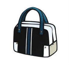 Hot 3D Jump Style 2D Drawing From Cartoon Paper Bag Comic 3D Messenger Bag black