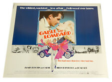 Gable and Lombard Half Sheet Theatrical Movie Poster 28x22 Vintage Brolin Furie
