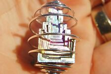 """Perfect Pendant™ Heaven's Temple™ Bismuth Crystal Pendant 20"""" Silver Chain"""