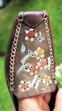 HISPANITAS Hand Sewed Hand Painted Soft Leather Spanish Moccasin Shoes NWOB!