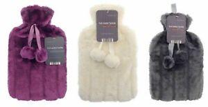 Wärmflasche Überbezug mit Wärmeflasche Tierfelloptik bezug Wärmkissen Flasche
