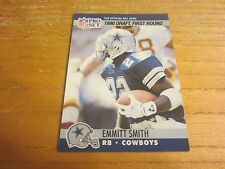 Emmitt Smith 1990 Pro Set #685 ROOKIE Trading Card NFL Football Dallas Cowboys
