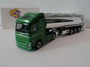 "Herpa 928458 # Volvo FH GL Tanksattelzug "" Traveco "" in grün-silber 1:87 ab 9,99"