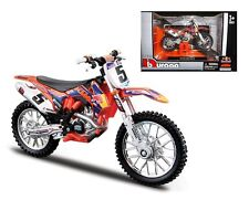 BBURAGO Motorcycles 1:18 2014 KTM 450 SX-F #5 RED BULL 51072 Orange