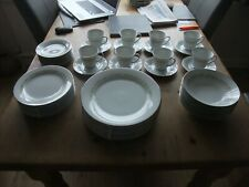 More details for fabulous 52 piece dinner/tea set by noritake of japan pattern trilby 6908 1970s