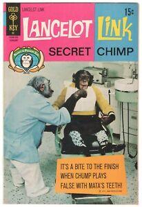 Lancelot Link Secret Chimp #4 ~ GOLD KEY 1972 ~ ABC TV Photo Cover FN