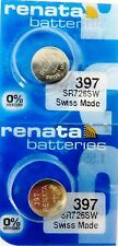397 RENATA SR726SW (2 piece) D397 Watch Battery Free Shipping Authorized Seller