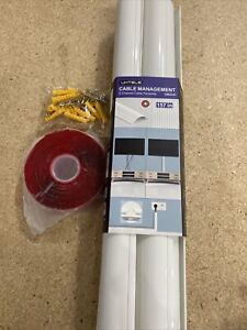 Cord Concealer Cable Management Channel - UMTELE 157 inch White Channel -CM-D-01