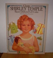 1986 Classic Shirley Temple Paper Dolls In Full Color