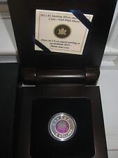 2012 $5 Niobium and Sterling Silver Coin - April Full (Pink) Moon.