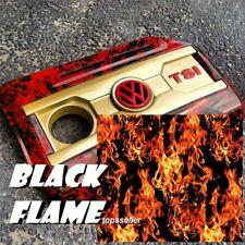 0.5x5m black flame fiber Hydrographic Film Aqua Films water transfer WHOLESALE