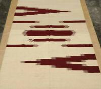 5x8 Ikat Large Afghan Kilim Rug Carpet 5'x8' Hand Woven Traditional Wool Kelim
