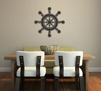 Ships Wheel Wall Decal removable sticker lake cottage decor nautical sailing